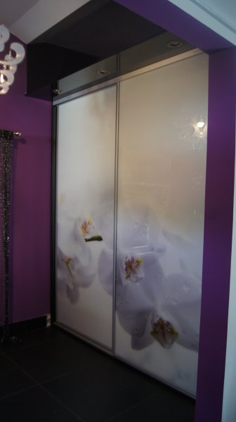 Szkło dekoracyjne - orchidea